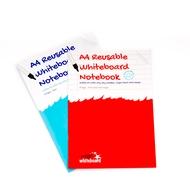 2 A4 Wiederverwendbares Whiteboard Notizbuch - 16 Seiten