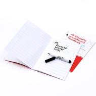 5 * A5 Magic Notebooks ™ - Wiederverwendbares Whiteboard Notizbuch - 8 Seitens