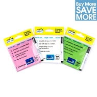 3 Pack - Multi Pack - löschbaren Magic Sticky Notes - rosa, grün, weiß - 150 Blätter