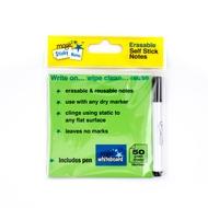 5 * GRÜN Magic Sticky Notes Pad - 50 Blätter - plus ein GRATIS Marker