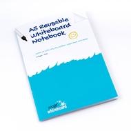 5 * A5 Magic Notebook ™ - Wiederverwendbares Whiteboard Notizbuch  - 8 Seitens