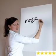 A1 Weiße Magic Whiteboard - Rollenfolie Flipchart - Free Magic Marker Clicky - 25 Blatt die Rolle
