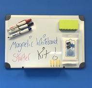Magnetisches Whiteboard 30 x 45cm. Enthält Whiteboard Marker, Whiteboard Radiergummi und Reinigungstücher