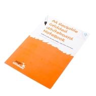 5 * DIN A4 kariertes, wiederverwendbares Whiteboard Mathematik Notizbuch™ mit 8 Seiten