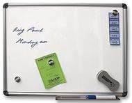 Magnetisches Whiteboard 90 x 120cm. Enthält Whiteboard Marker, Whiteboard Radiergummi und Reinigungstücher