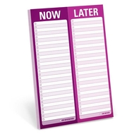Knock Knock Notizblock -  Now / Later Perforated Pad (Englisch) - Jetzt. Später Notizblock
