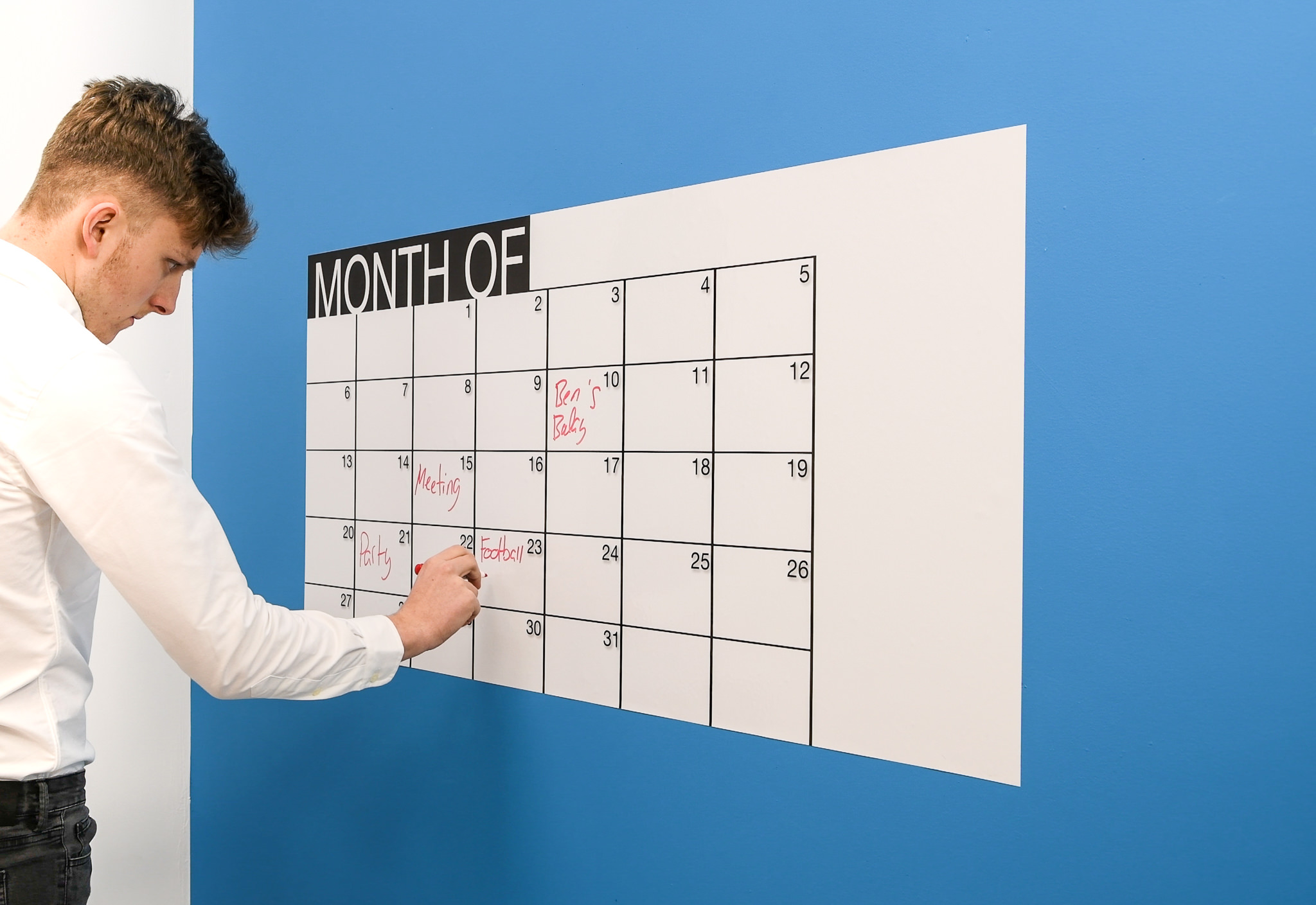 New Monthly Whiteboard Planner - self adhesive