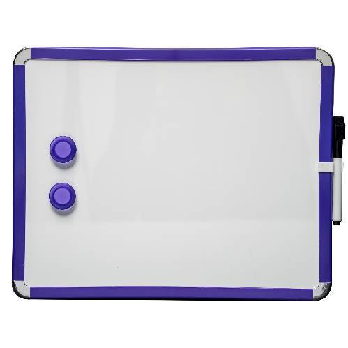 Kühlschrank Magnetbrett / Magnetisches Whiteboard. Blau. Inkl. Stift und Löscher 28 x 36 cm. Enthält Whiteboard Marker und 2 Magnete