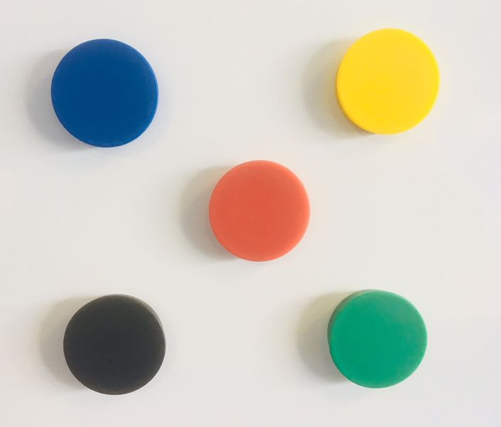 Set magneten, 5 stuks, 20 mm