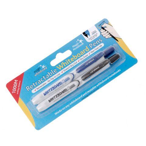magic clicky pen, retractable pen, retractable marker, magic whiteboard