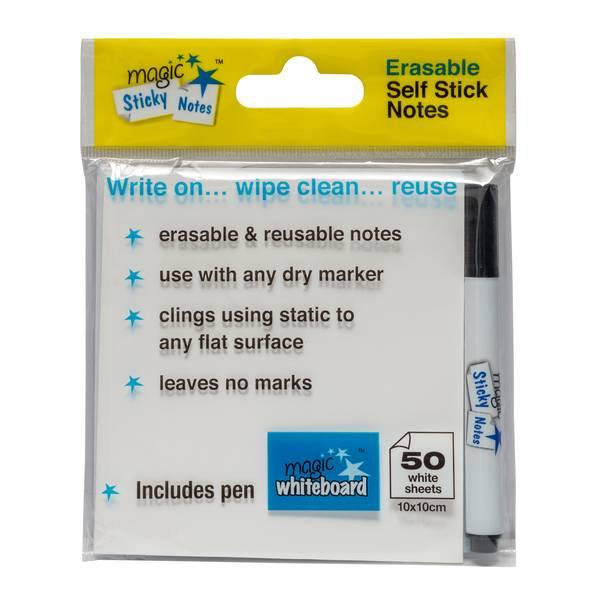Weißes löschbare Magic Sticky Notes Pad