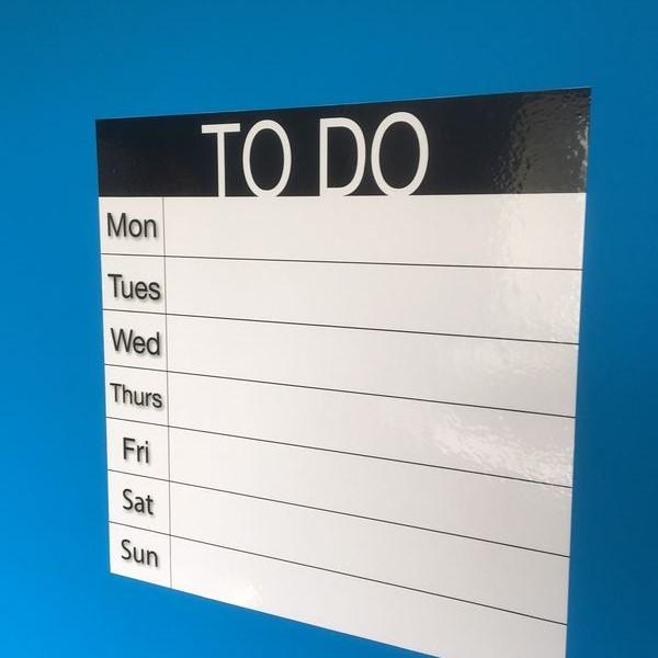TO DO - Wochenliste , selbstklebend 50cm x 50cm
