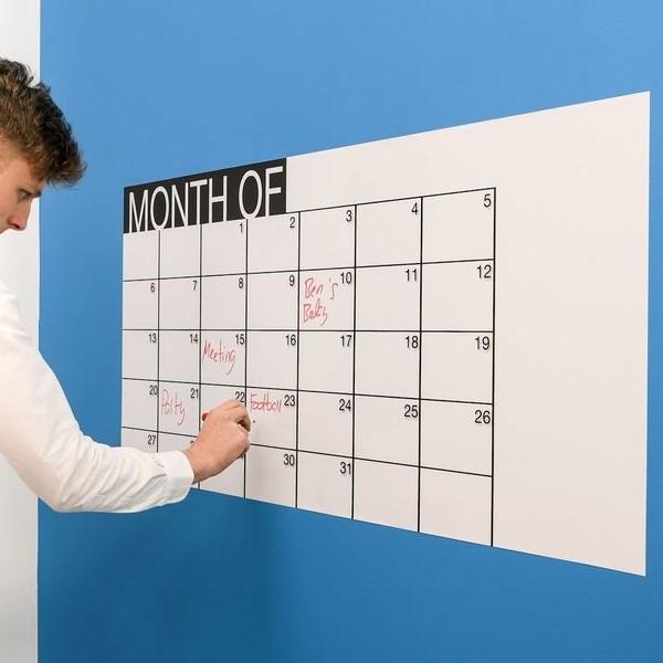 🗓️ Whiteboard-Kalender Weiß