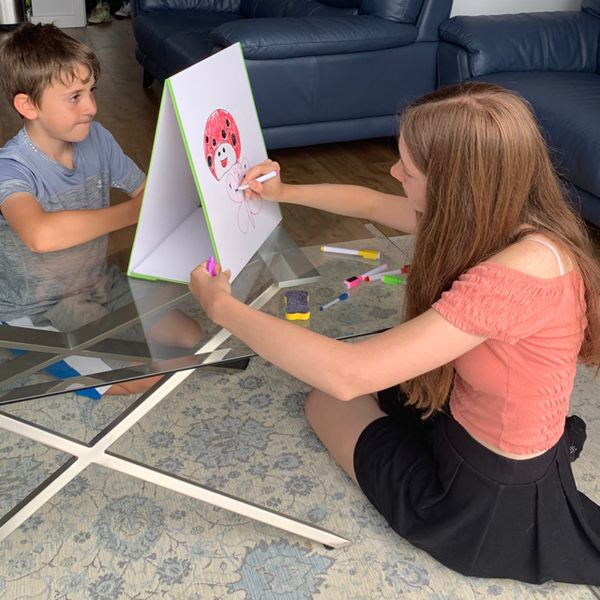 🧲 A-Frame Kids Art Staffelei doppelseitiges Staffelei für Kinder Whiteboard