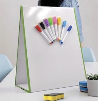 Doppelseitiges Magnetische Whiteboard, Doppelseitiges Kleines Desktop Whiteboard